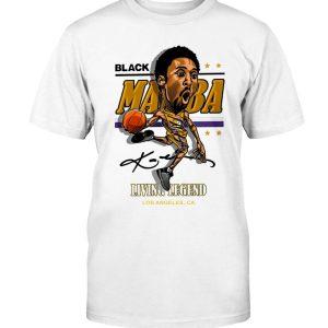 BLACK MAMBA - LIVING LEGEND SHIRT Kobe Bryant Los Angeles Lakers Cameron Thomas